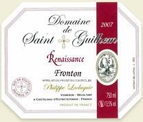 Domaine de SAINT GUILHEM - Etiquette Renaissance 2007.jpg